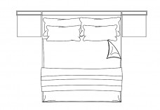 Double Bed top view | FREE AUTOCAD BLOCKS