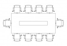 Chairs & Meeting table set-up top view   FREE AUTOCAD BLOCKS