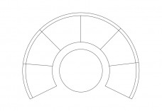 Circular sofa top view | FREE AUTOCAD BLOCKS