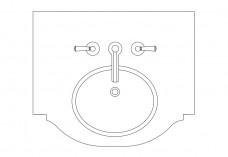Sink top view | FREE AUTOCAD BLOCKS
