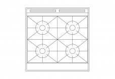 Multiple Hob top view | FREE AUTOCAD BLOCKS