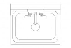 Single Kitchen Sink top view | FREE AUTOCAD BLOCKS