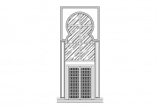Entrance elevation | FREE AUTOCAD BLOCKS