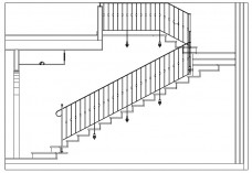 Staircase elevation | FREE AUTOCAD BLOCKS