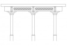 Pergola elevation | FREE AUTOCAD BLOCKS