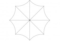 Umbrella top view | FREE AUTOCAD BLOCKS