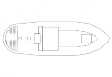 Boat top view | FREE AUTOCAD BLOCKS