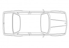 Car top view | FREE AUTOCAD BLOCKS