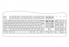 Keyboard top view | FREE AUTOCAD BLOCKS