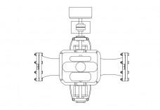 Pump elevation | FREE AUTOCAD BLOCKS