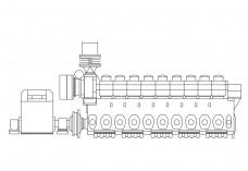 Ship Engine elevation   FREE AUTOCAD BLOCKS
