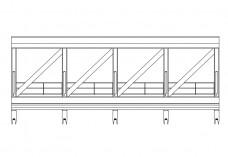 Skybridge elevation | FREE AUTOCAD BLOCKS
