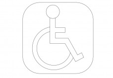International Symbol for Access | FREE AUTOCAD BLOCKS