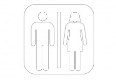 Unisex WC | FREE AUTOCAD BLOCKS