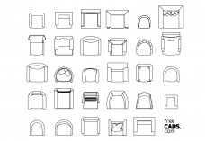 Armchairs Bundle | FREE AUTOCAD BLOCKS