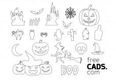 Halloween Bundle | FREE AUTOCAD BLOCKS