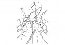 Deadpool portrait | FREE AUTOCAD BLOCKS