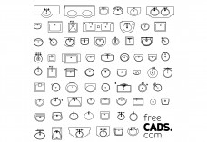 Bathroom Sinks Bundle | FREE AUTOCAD BLOCKS