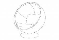 Ball Chair | FREE AUTOCAD BLOCKS