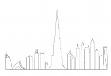Dubai Skyline | FREE AUTOCAD BLOCKS
