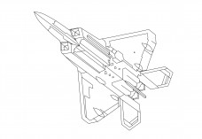 Fighter  Aircraft bottom view | FREE AUTOCAD BLOCKS