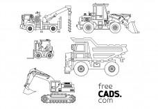 Construction Vehicles Bundle | FREE AUTOCAD BLOCKS