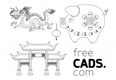 Chinese New Year | FREE AUTOCAD BLOCKS