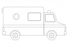 Ambulance elevation | FREE AUTOCAD BLOCKS