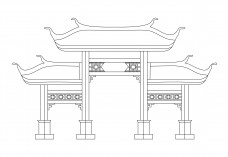 Chinese Arch | FREE AUTOCAD BLOCKS