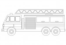 Fire Truck elevation | FREE AUTOCAD BLOCKS