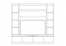 TV Unit | FREE AUTOCAD BLOCKS