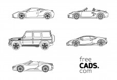 Supercars Bundle | FREE AUTOCAD BLOCKS