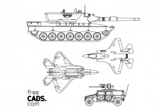 Military Vehicles Bundle | FREE AUTOCAD BLOCKS