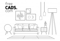 Living Room Bundle | FREE AUTOCAD BLOCKS