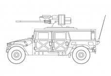 Military Car | FREE AUTOCAD BLOCKS