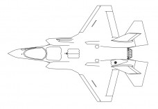 Fighter  Aircraft top view | FREE AUTOCAD BLOCKS