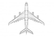 Airplane top view | FREE AUTOCAD BLOCKS