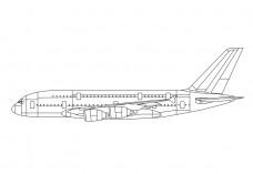 Airplane side view | FREE AUTOCAD BLOCKS
