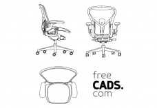 Office Chair views | FREE AUTOCAD BLOCKS