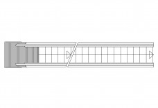 Single Escalator top view | FREE AUTOCAD BLOCKS