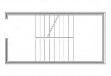 U-shape Staircase top view | FREE AUTOCAD BLOCKS
