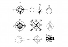 Compass Rose Bundle | FREE AUTOCAD BLOCKS