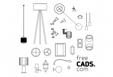 Lights Bundle | FREE AUTOCAD BLOCKS