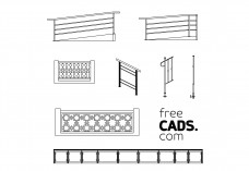 Railings Bundle | FREE AUTOCAD BLOCKS
