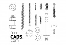 Screws Bundle | FREE AUTOCAD BLOCKS