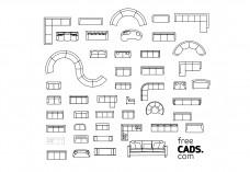 Sofas Bundle | FREE AUTOCAD BLOCKS