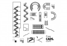 Stairs Bundle | FREE AUTOCAD BLOCKS