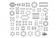 Dining Set-Up Bundle | FREE AUTOCAD BLOCKS