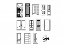 Doors Bundle | FREE AUTOCAD BLOCKS