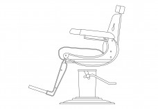 Barber Chair | FREE AUTOCAD BLOCKS